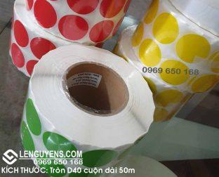 NHÃN GIẤY TRÒN D40