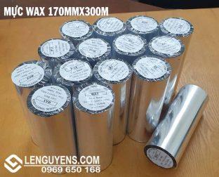 MỰC WAX 170MMX300M ( RIBBON IN MÃ VẠCH )