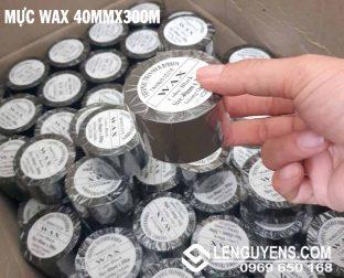 MỰC WAX 40MMX300M ( RIBBON IN MÃ VẠCH )